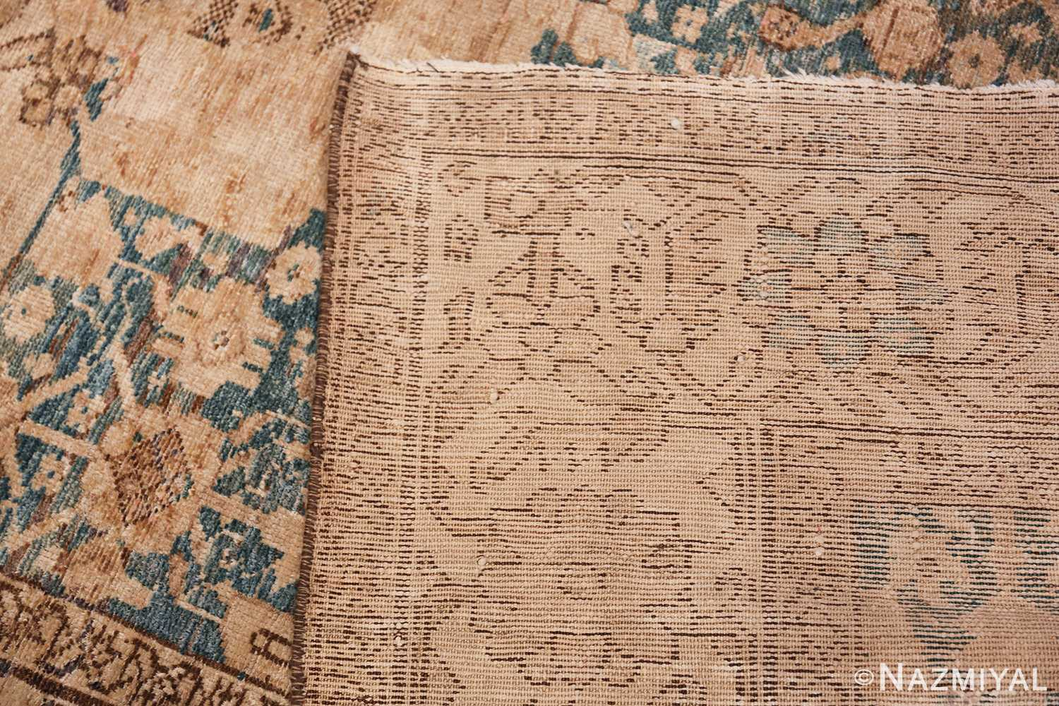 Gallery Size Shabby Chic Antique Persian Malayer Rug 50543 Woven Knots Nazmiyal