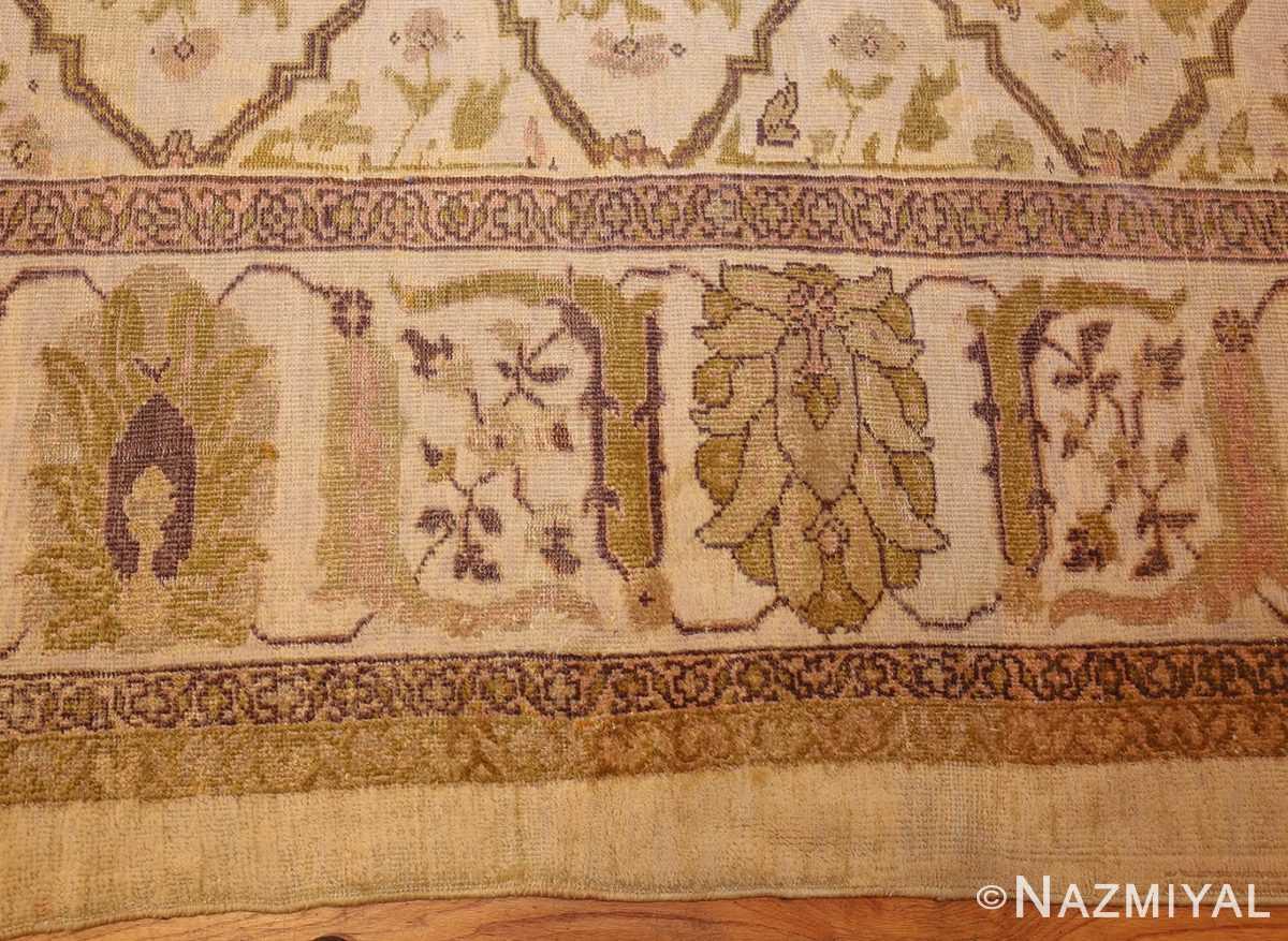 ivory antique persian sultanabad rug 50388 border Nazmiyal