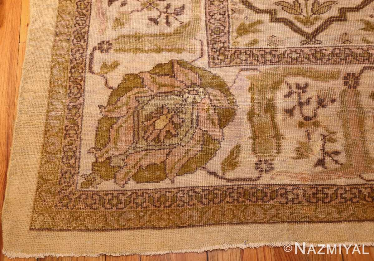 ivory antique persian sultanabad rug 50388 corner Nazmiyal
