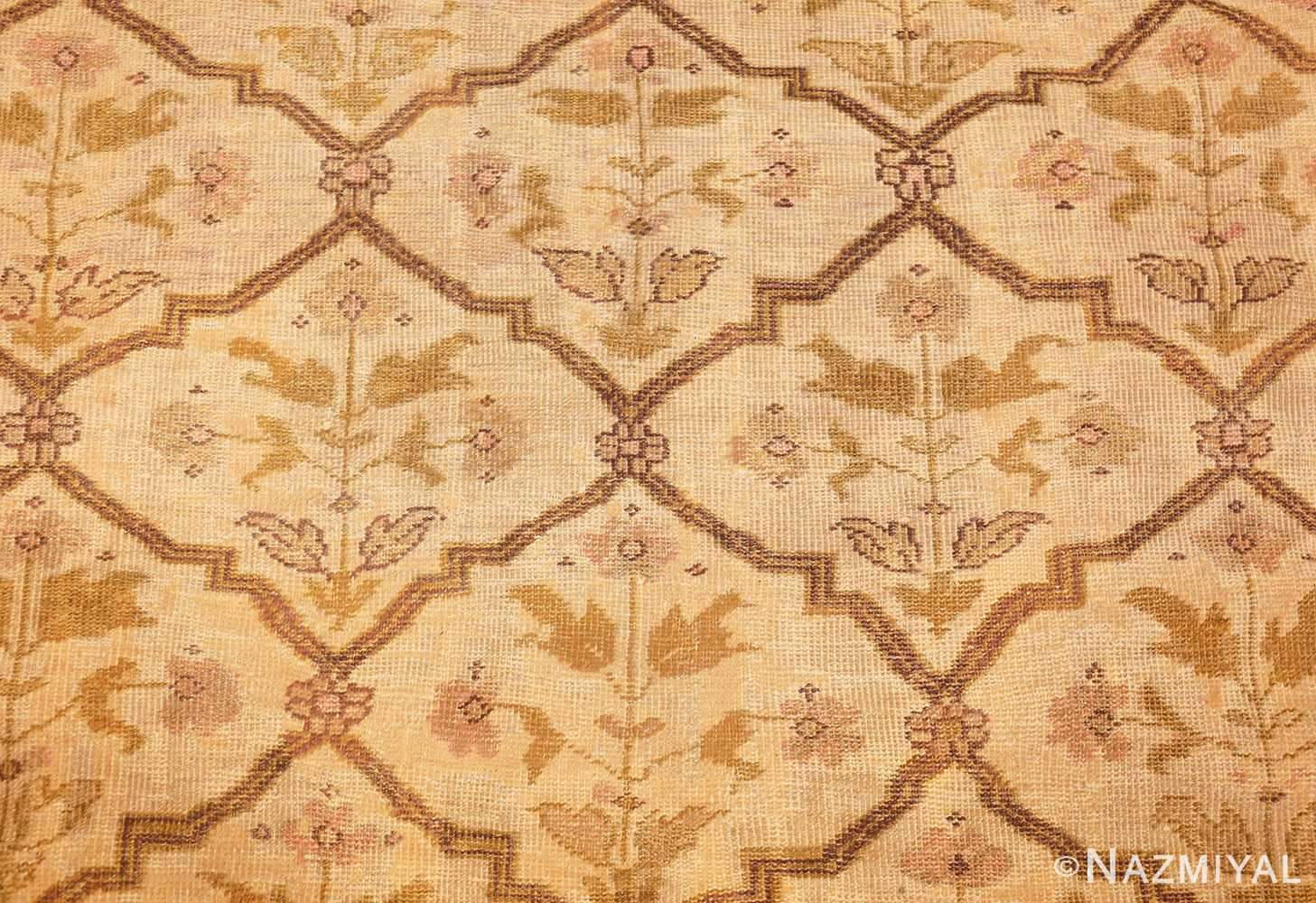 ivory antique persian sultanabad rug 50388 field Nazmiyal
