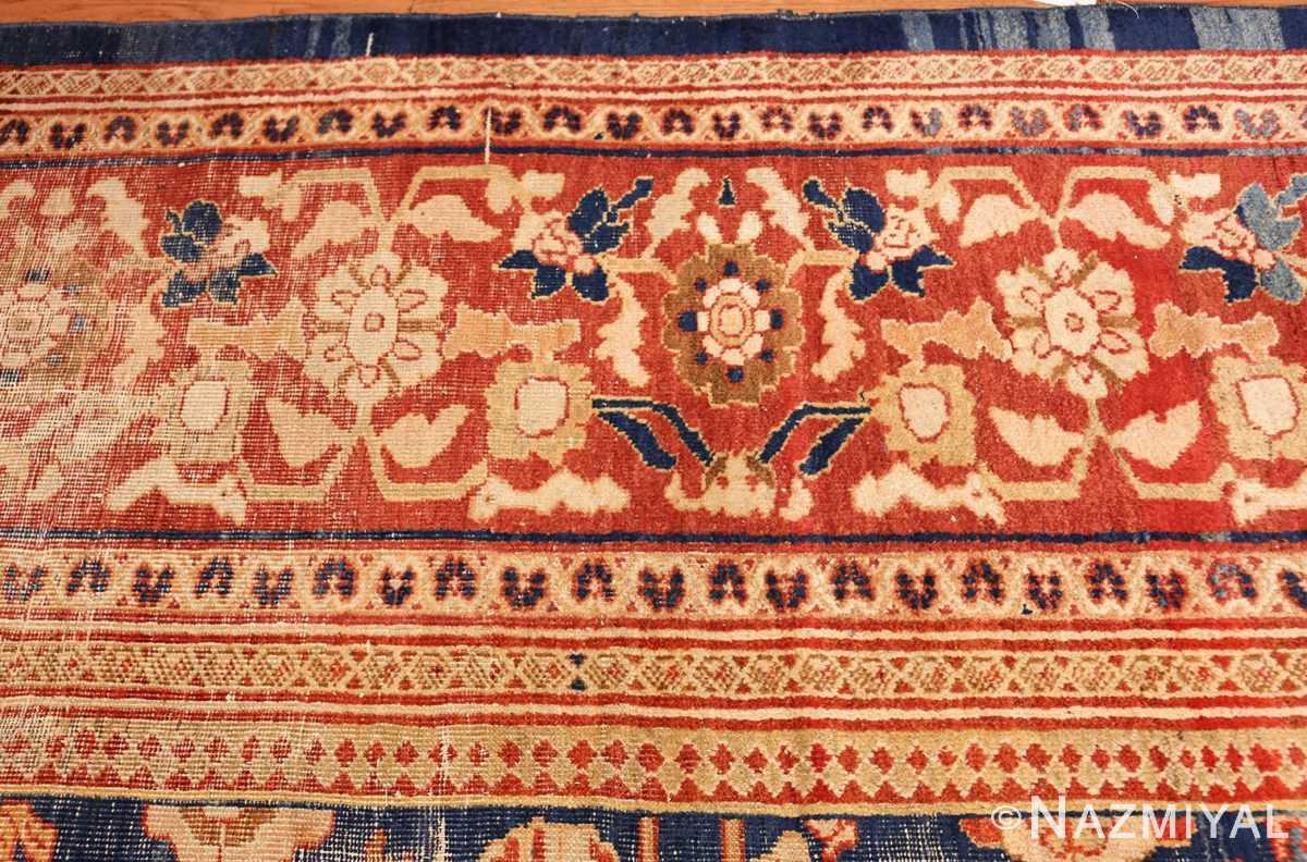 large light blue shabby chic antique sultanabad rug 49046 border Nazmiyal