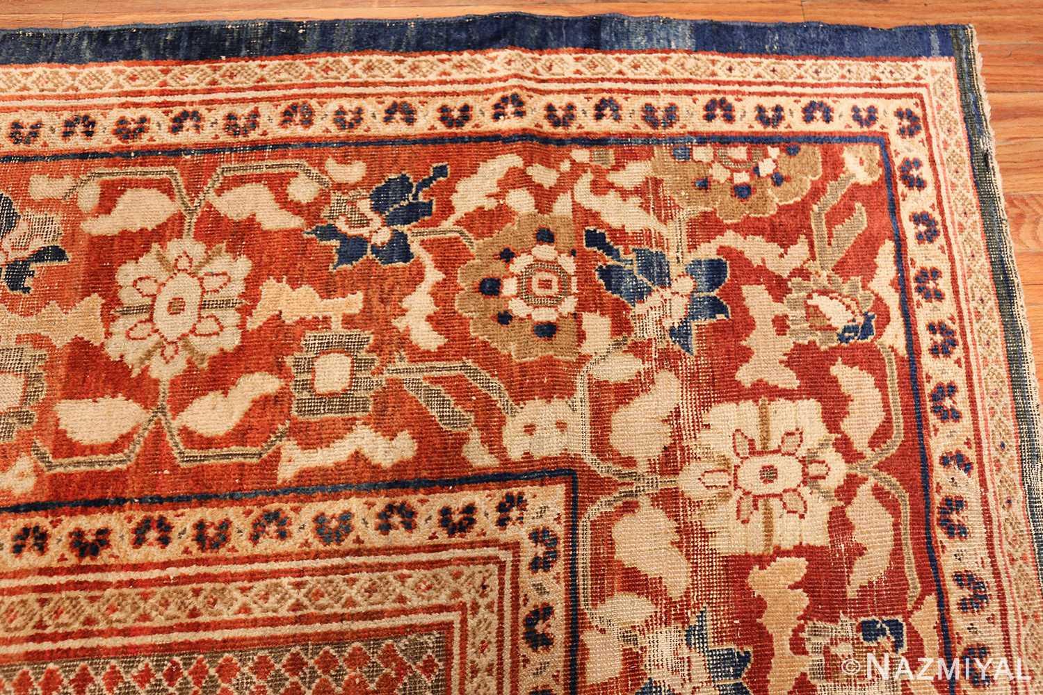 large light blue shabby chic antique sultanabad rug 49046 corner Nazmiyal