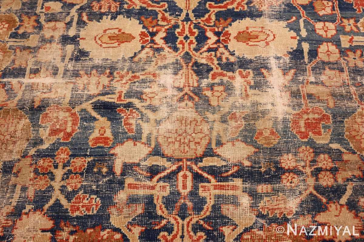 large light blue shabby chic antique sultanabad rug 49046 pile Nazmiyal