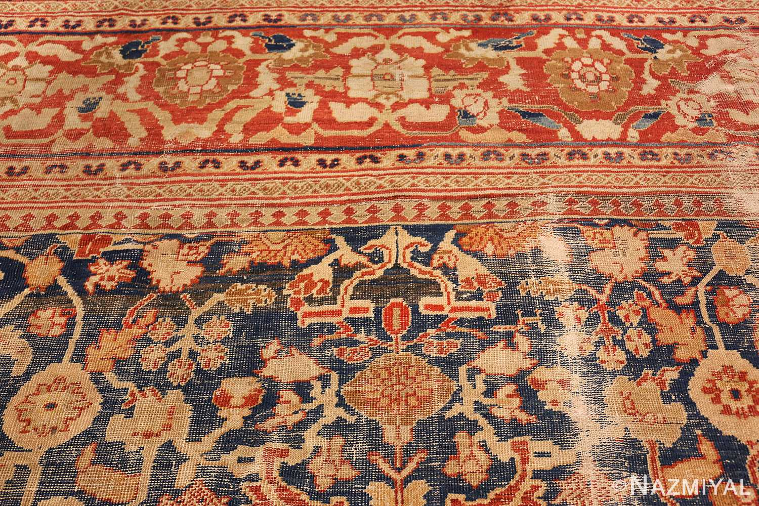 large light blue shabby chic antique sultanabad rug 49046 top Nazmiyal