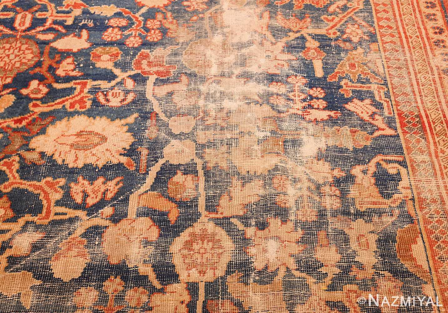 large light blue shabby chic antique sultanabad rug 49046 wear Nazmiyal