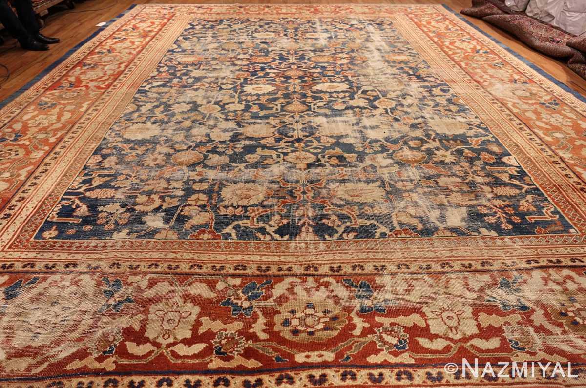 large light blue shabby chic antique sultanabad rug 49046 whole Nazmiyal
