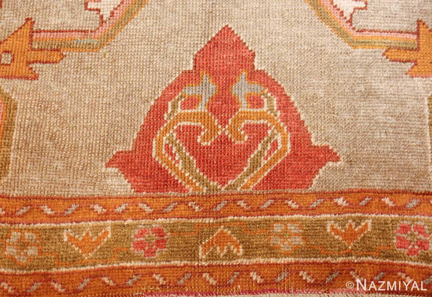 square antique oushak rug 49061 design Nazmiyal