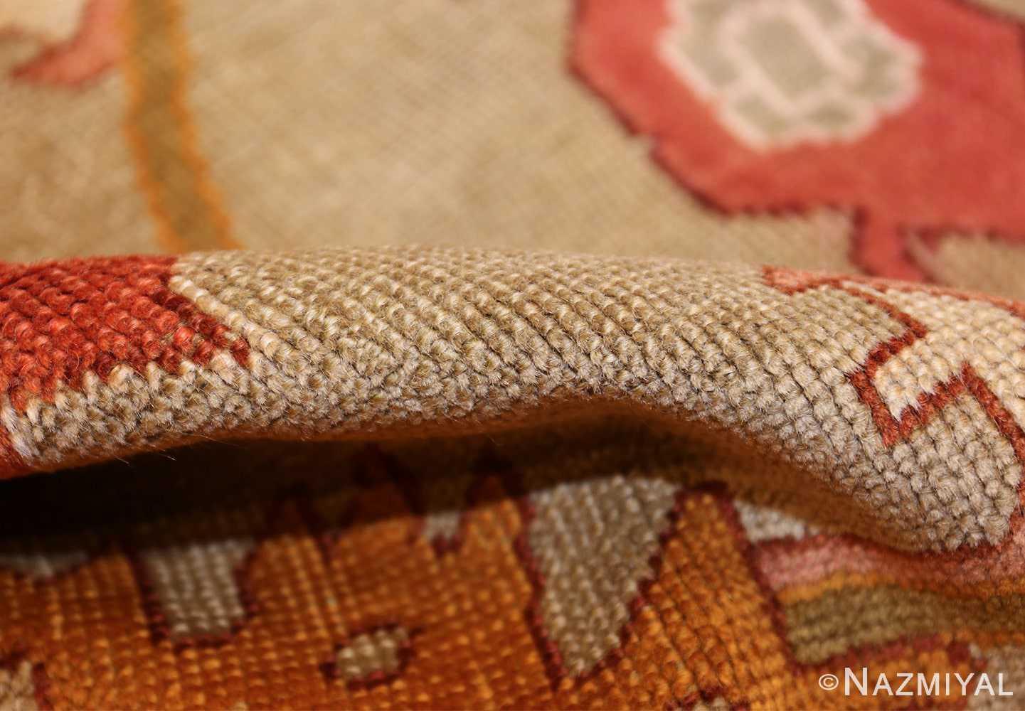 square antique oushak rug 49061 pile Nazmiyal