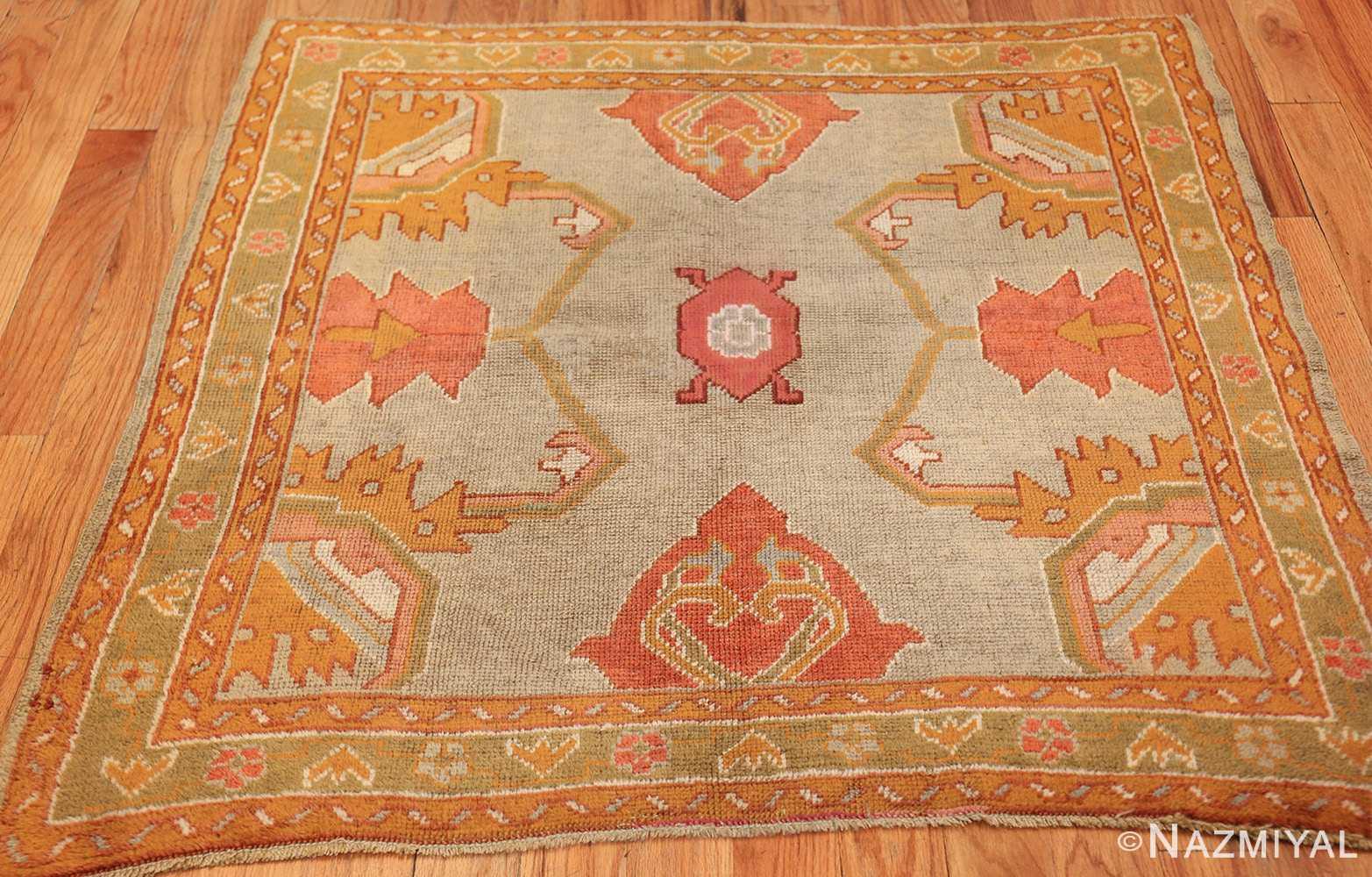 square antique oushak rug 49061 whole Nazmiyal