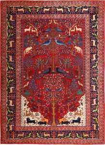 Animal Garden Persian Khorassan Rug 49009