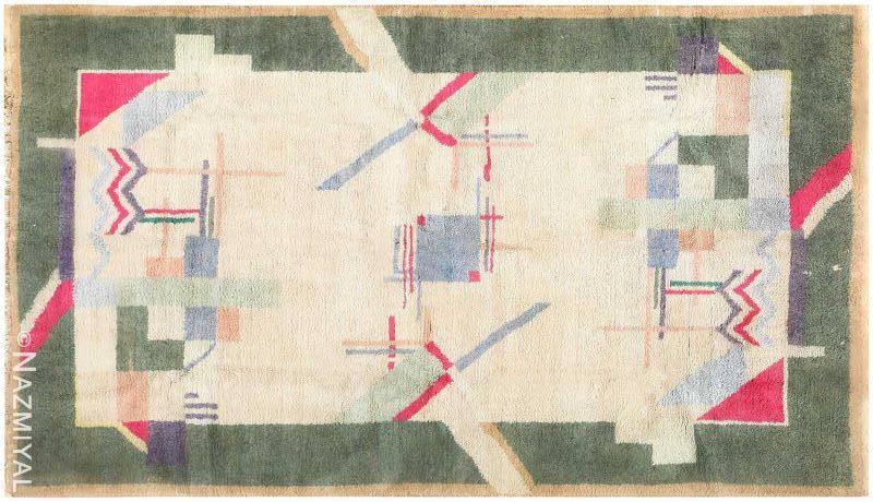 Cotton Indian Art Deco Rug Nazmiyal