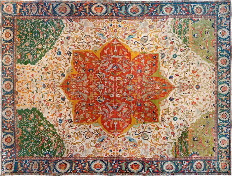 Oversized Antique Persian Tabriz Rug Nazmiyal