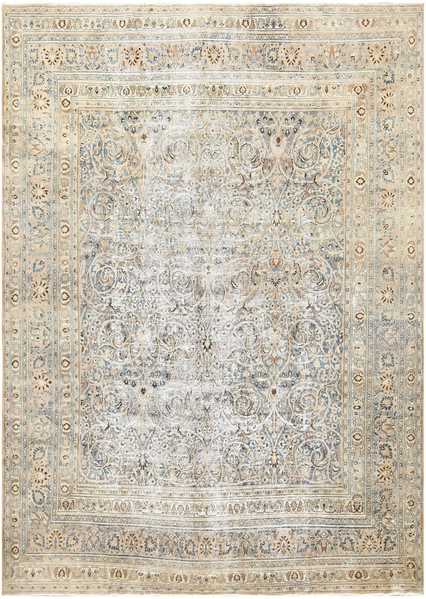 A Fine Decorative Persian Khorassan Antique Shabby Chic Rugs