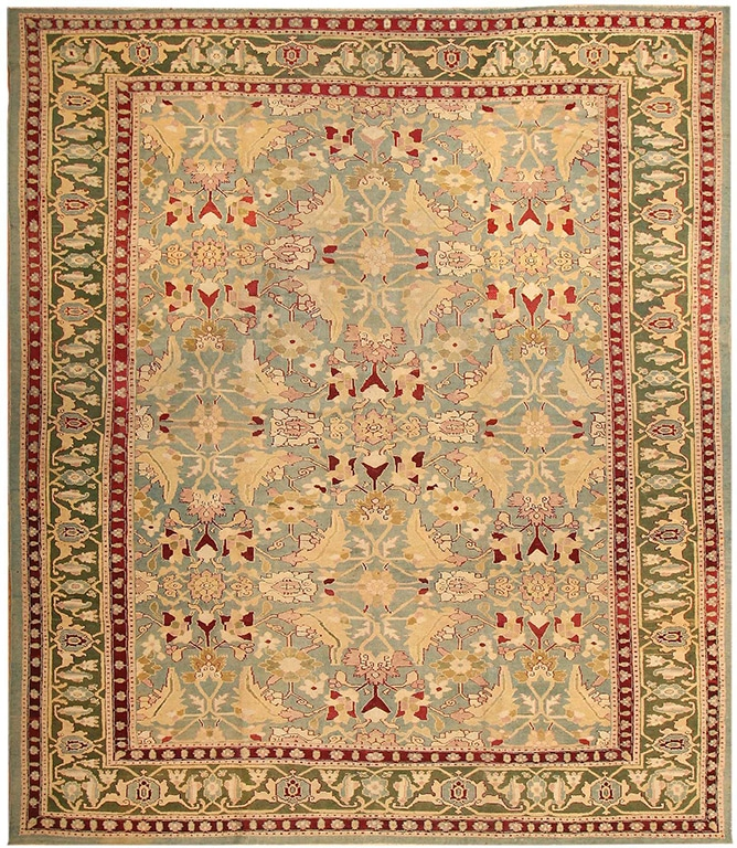 Green Antique Rugs from Agra India Perfect For A Quiet Christmas