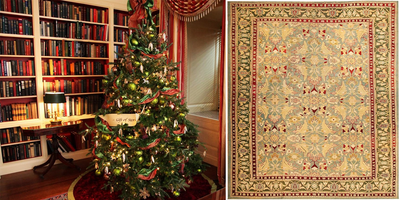 Agra Indian Carpets make Great Green Antique Rugs For The Holidays