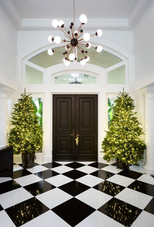 Kris Jenner Home Decor With Holiday Christmas Tree by Nazmiyal