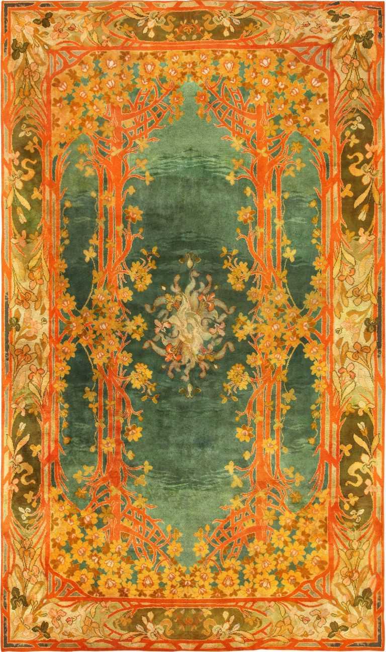 Long and Narrow Antique Art Nouveau Irish Donegal Rug 49155 Nazmiyal