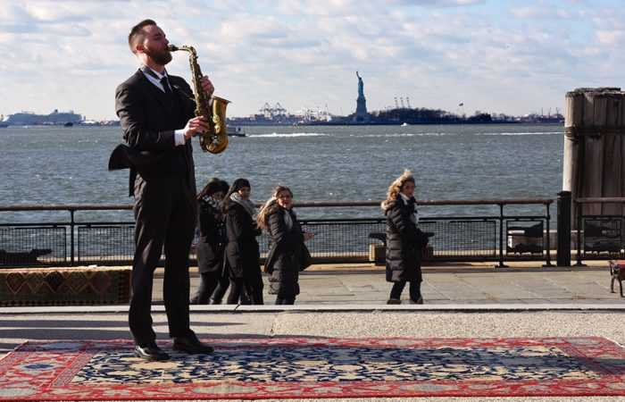 Nazmiyal Antique Rugs Loves NYC Statue Of Liberty