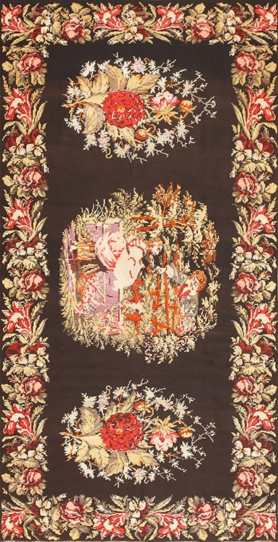 For A Romantic New Years Home Decor Get This Floral Decor Antique Rug