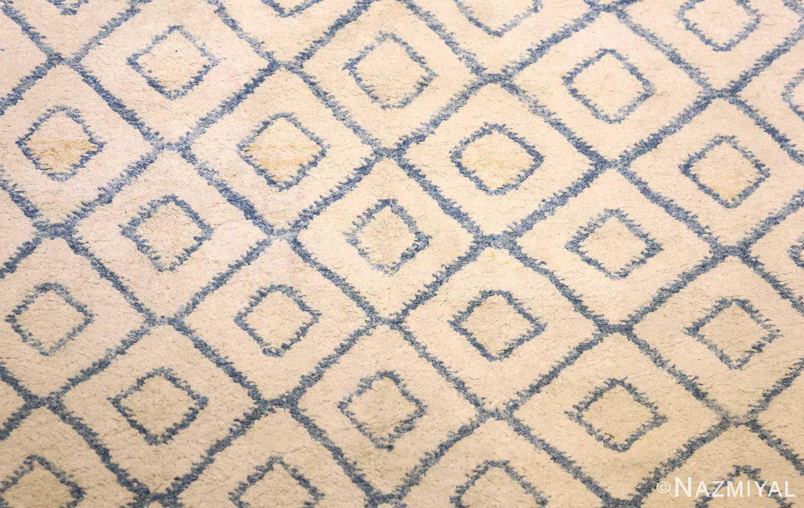 antique cotton indian agra rug 49148 field Nazmiyal