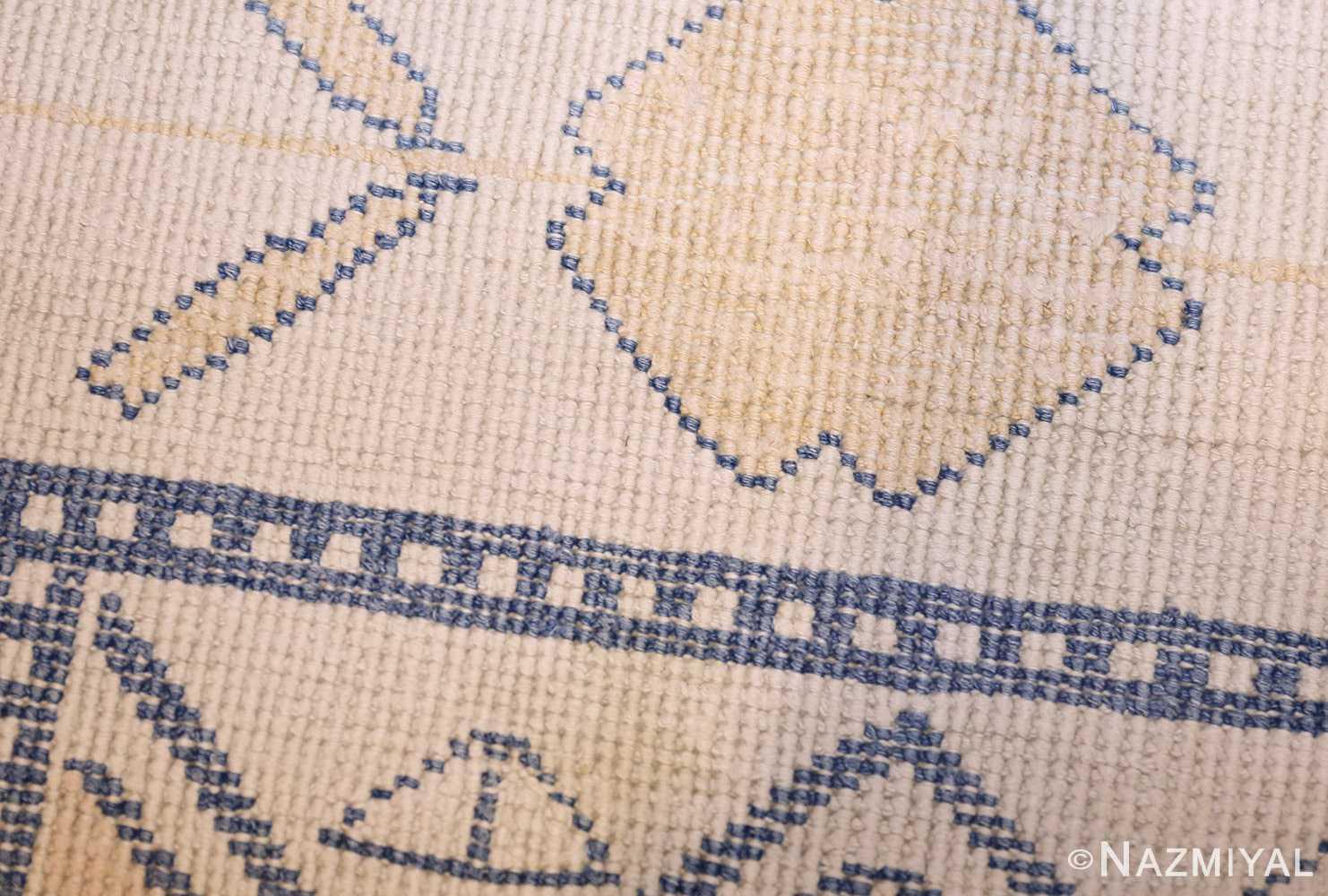 antique cotton indian agra rug 49148 weave Nazmiyal