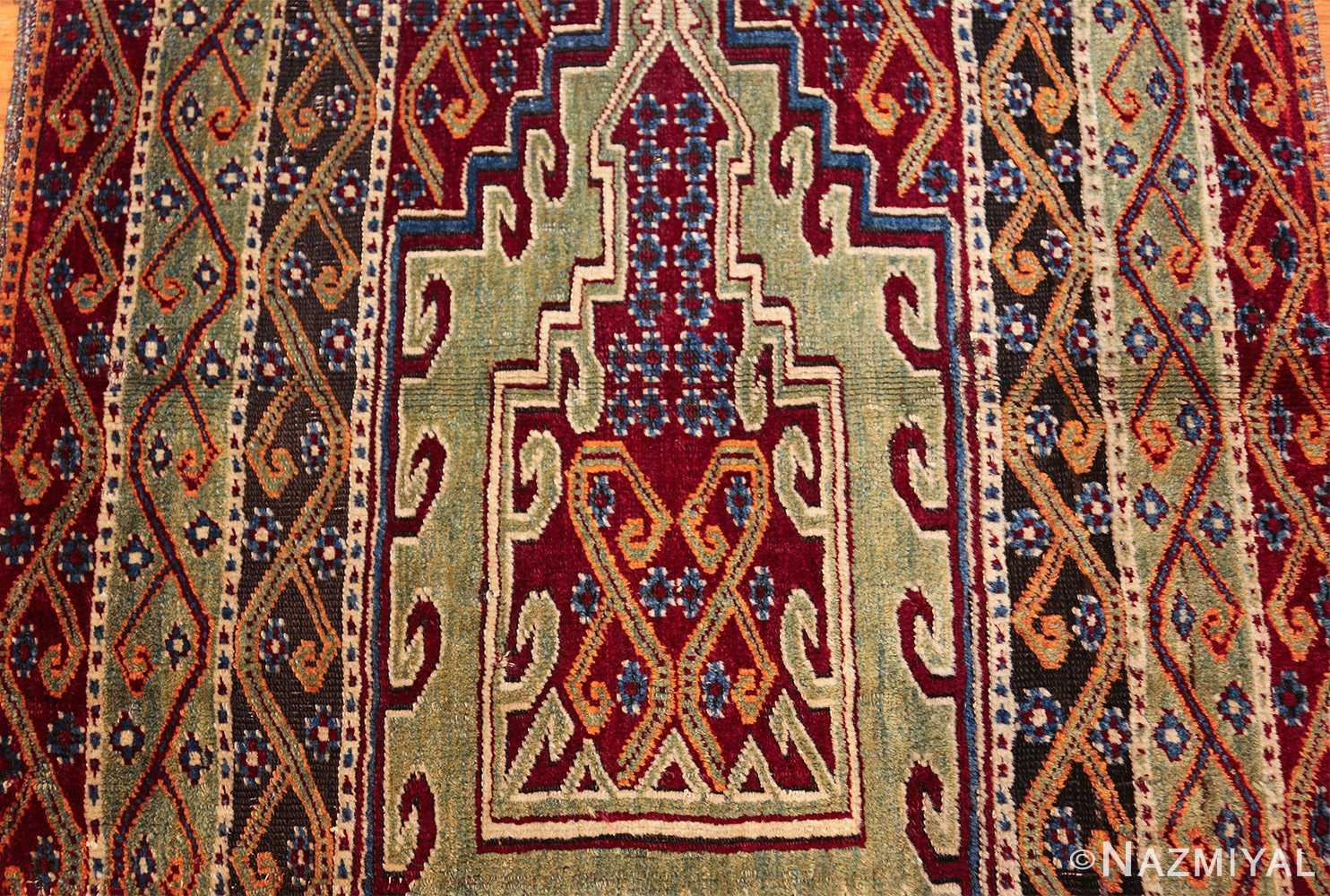 antique east anatolian turkish prayer rug 49101 medallion Nazmiyal