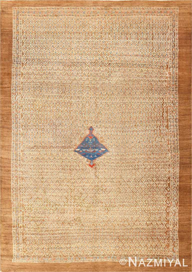 Antique Tribal Camel Hair Persian Bakshaish Rug 49174 Nazmiyal