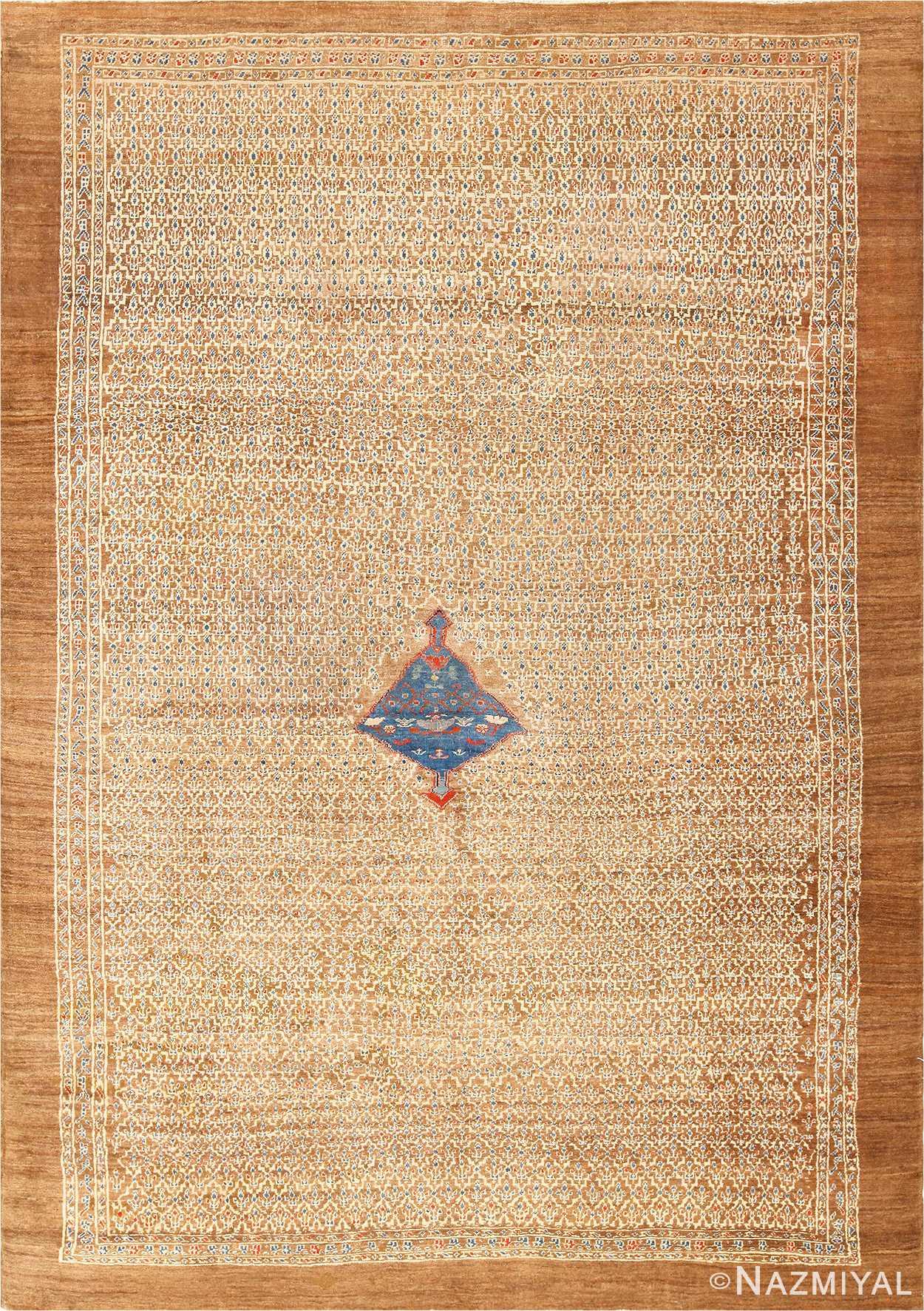 Antique Tribal Camel Hair Persian Bakshaish Rug 49174 Nazmiyal