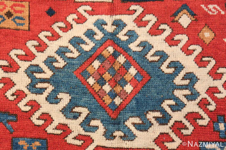 Antique Tribal Caucasian Borchalou Kazak Rug 49094 Central Medallion Nazmiyal