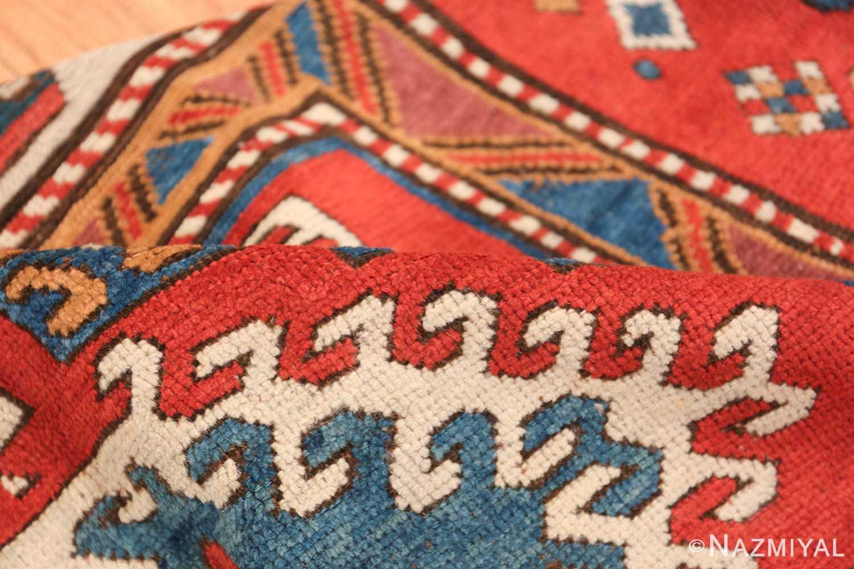 Antique Tribal Caucasian Borchalou Kazak Rug 49094 Geometric Pile Nazmiyal