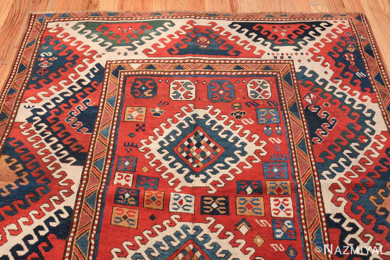 Antique Tribal Caucasian Borchalou Kazak Rug 49094 Top Design Nazmiyal