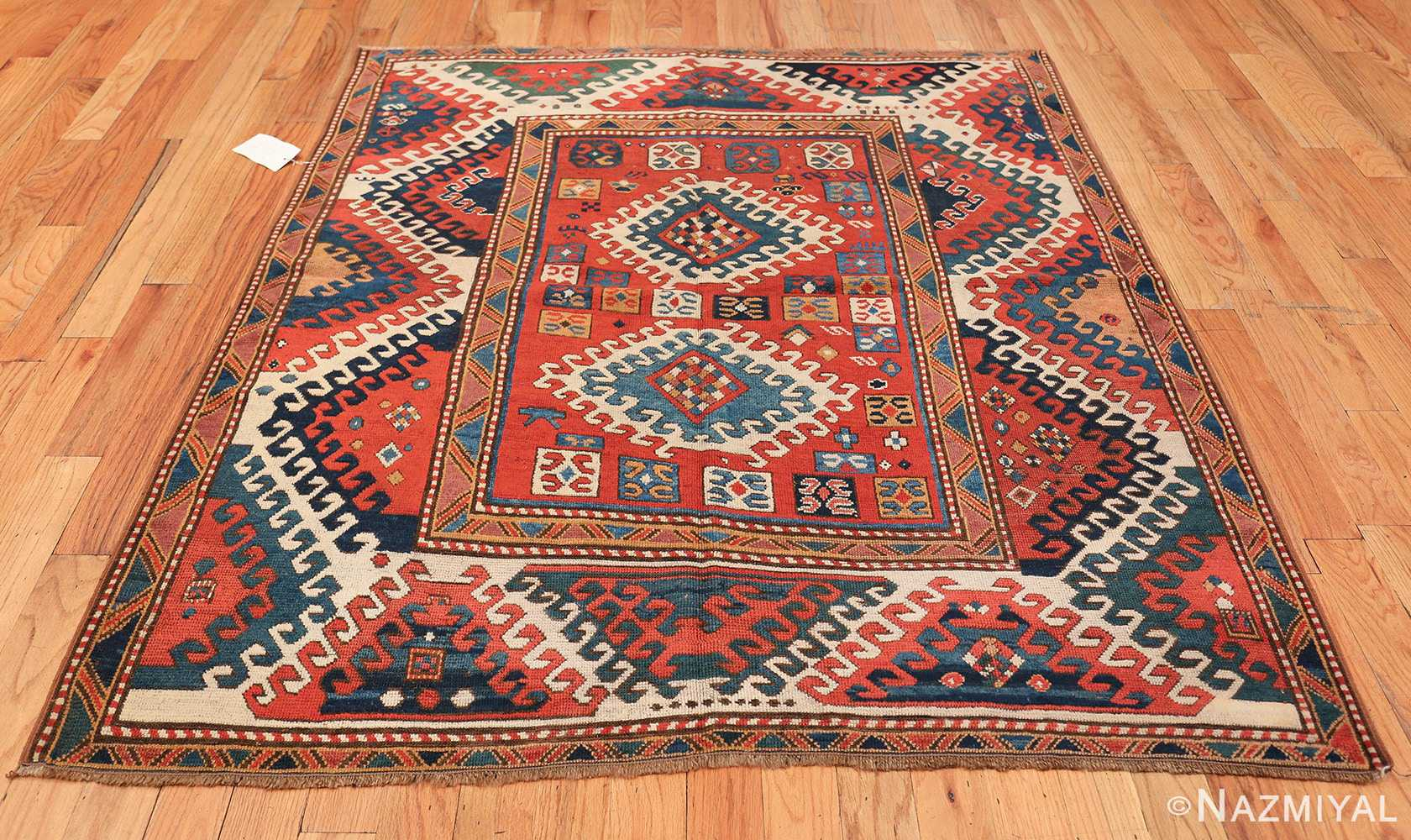 Antique Tribal Caucasian Borchalou Kazak Rug 49094