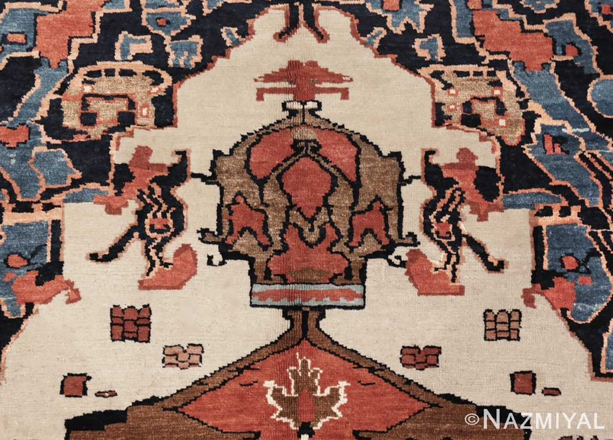 Picture of the details of the Antique Tribal Persian Bakshaish Rug 49156