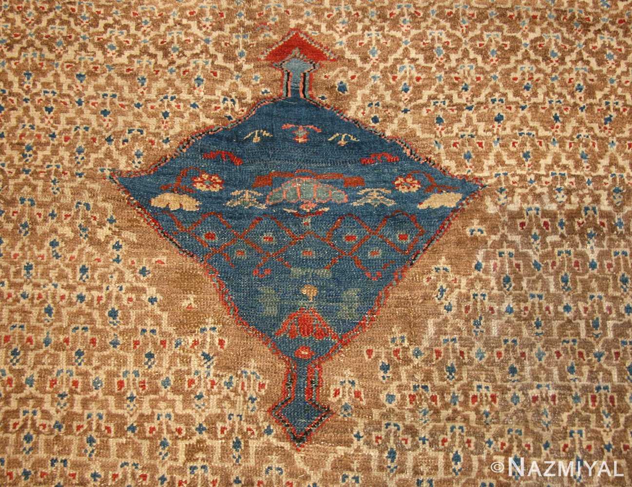 antique tribal persian bakshaish rug 49174 medallion Nazmiyal