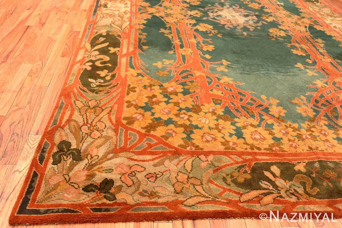 Corner Antique Art Nouveau Irish Donegal rug 49155 by Nazmiyal