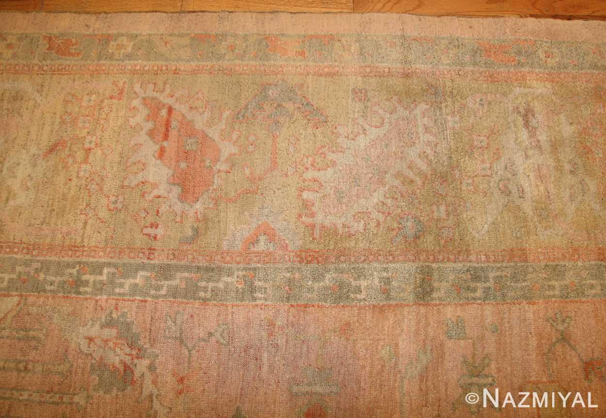 decorative antique turkish oushak rug 49165 border nazmiyal
