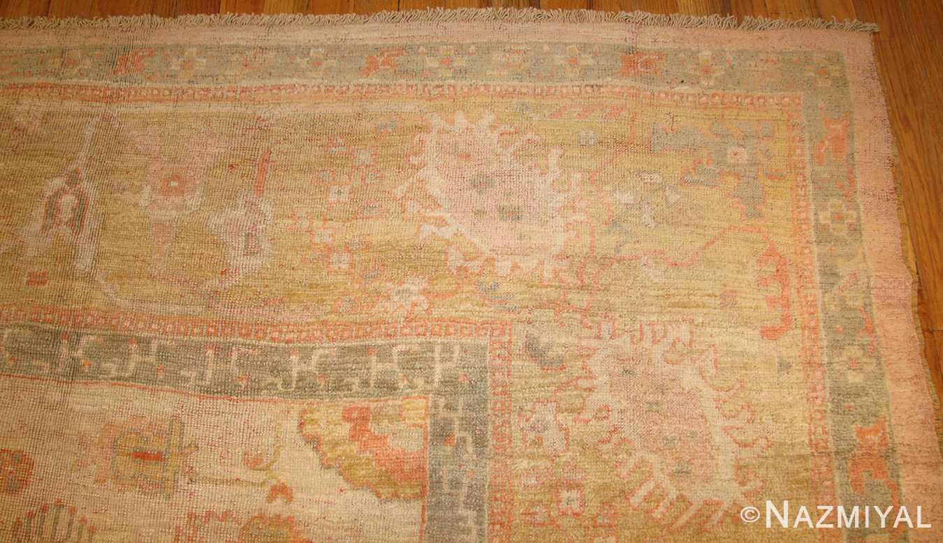 decorative antique turkish oushak rug 49165 corner nazmiyal