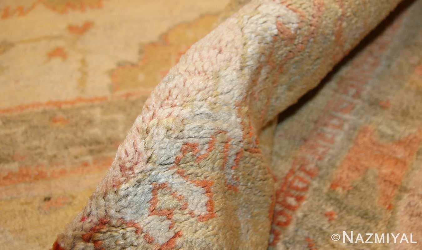decorative antique turkish oushak rug 49165 pile nazmiyal