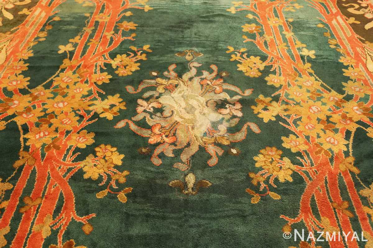 Detail Antique Art Nouveau Irish Donegal rug 49155 by Nazmiyal