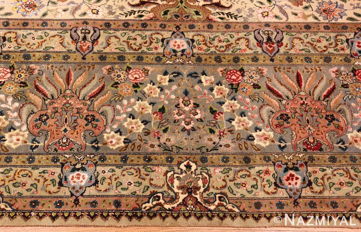 finely woven silk and wool persian tabriz rug 49143 border Nazmiyal