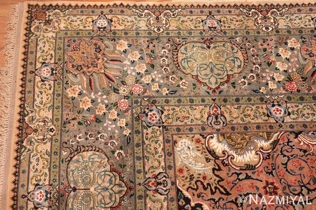 finely woven silk and wool persian tabriz rug 49143 corner Nazmiyal