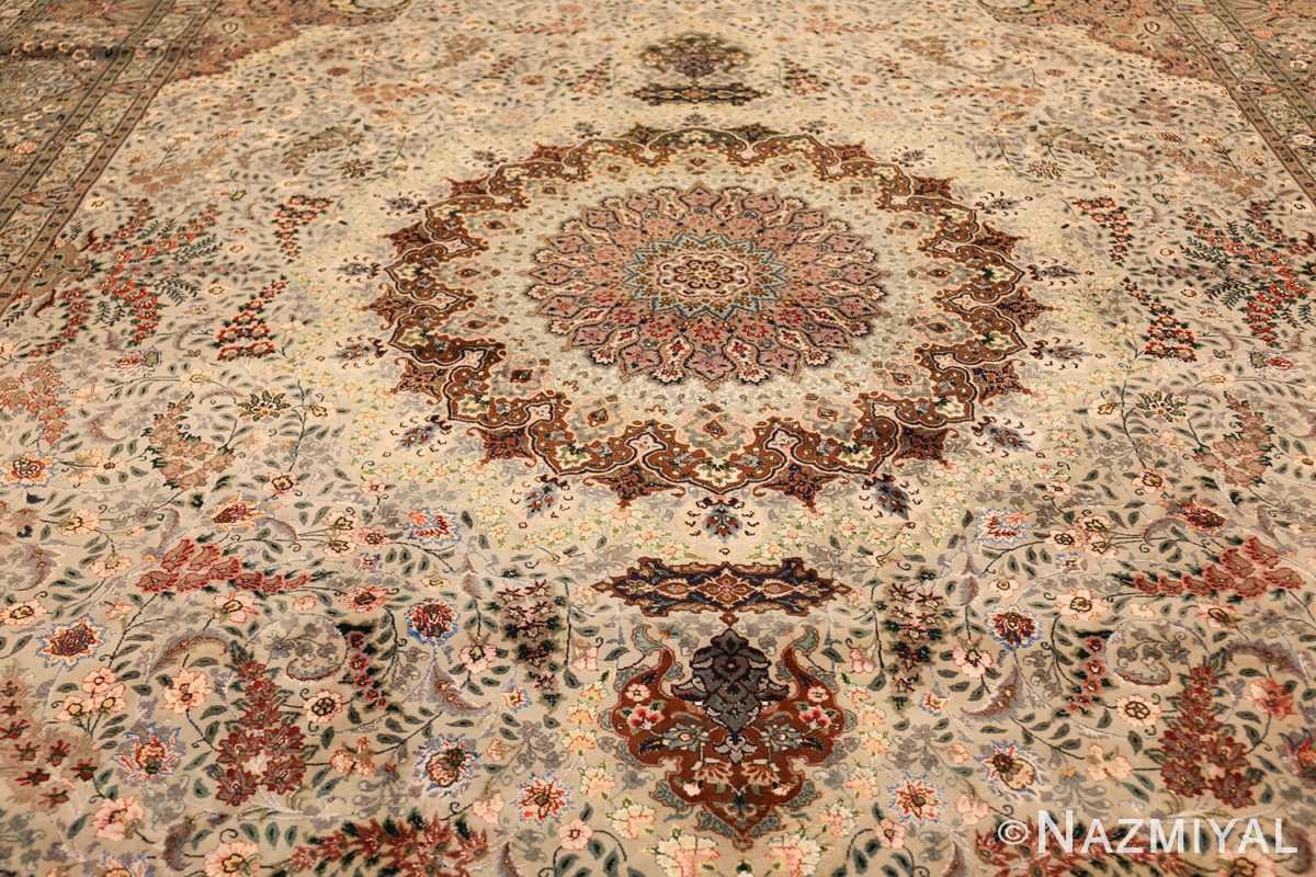 finely woven silk and wool persian tabriz rug 49143 field Nazmiyal