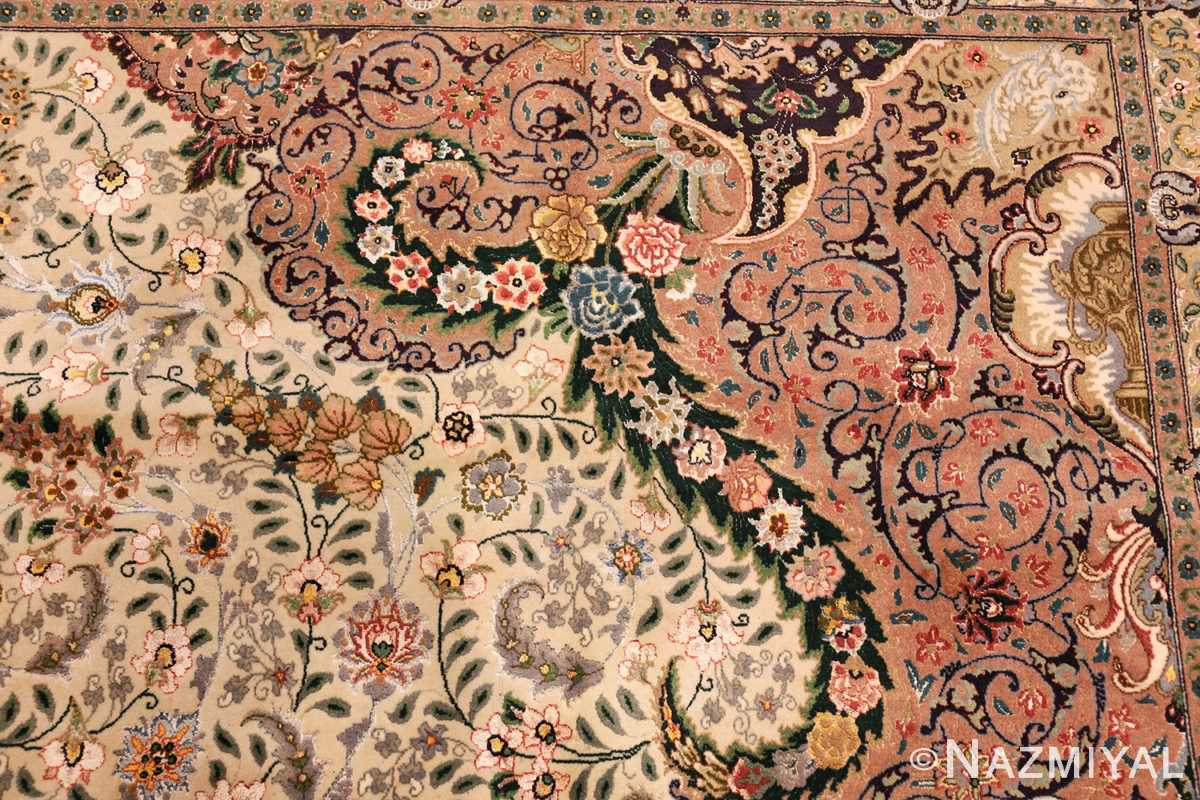 finely woven silk and wool persian tabriz rug 49143 part Nazmiyal