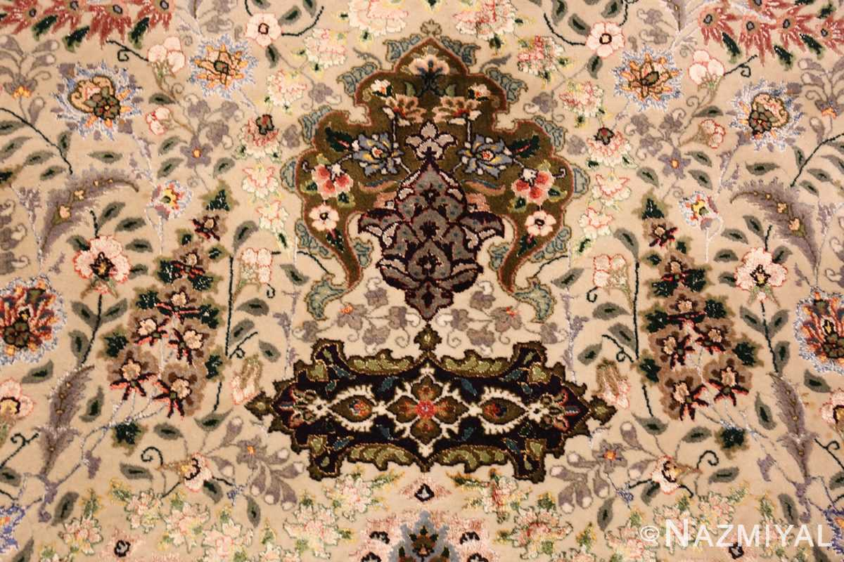 finely woven silk and wool persian tabriz rug 49143 tiara N