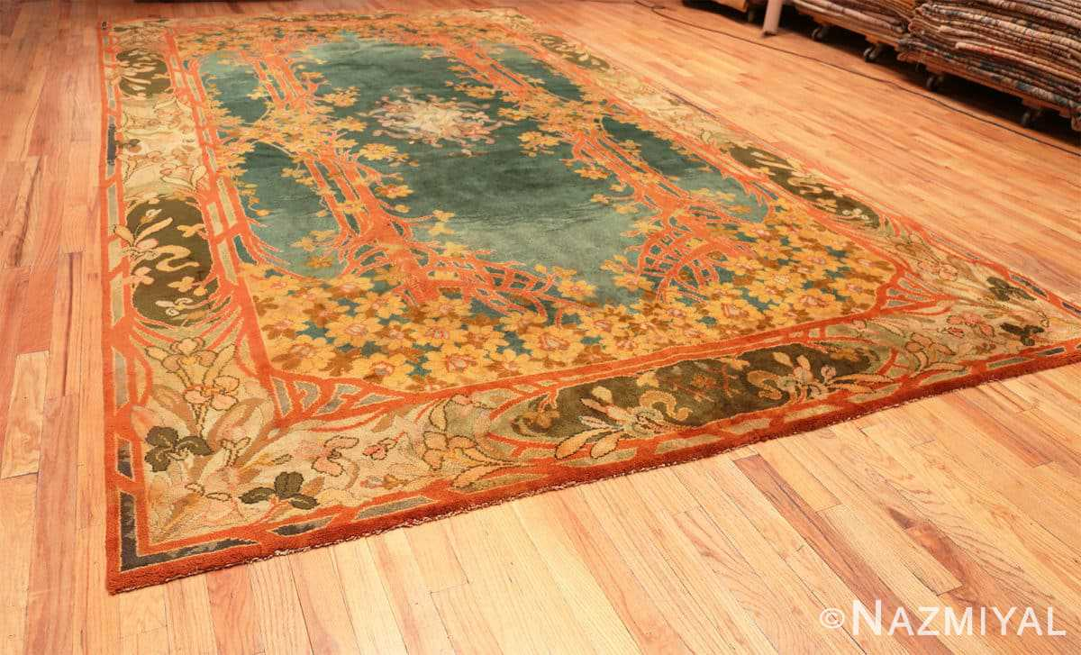 Full Antique Art Nouveau Irish Donegal rug 49155 by Nazmiyal