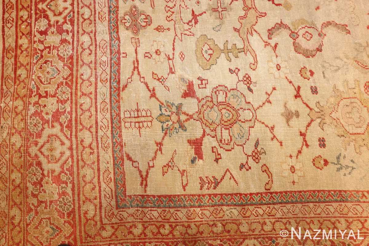 ivory background antique persian sultanabad rug 49163 corner Nazmiyal