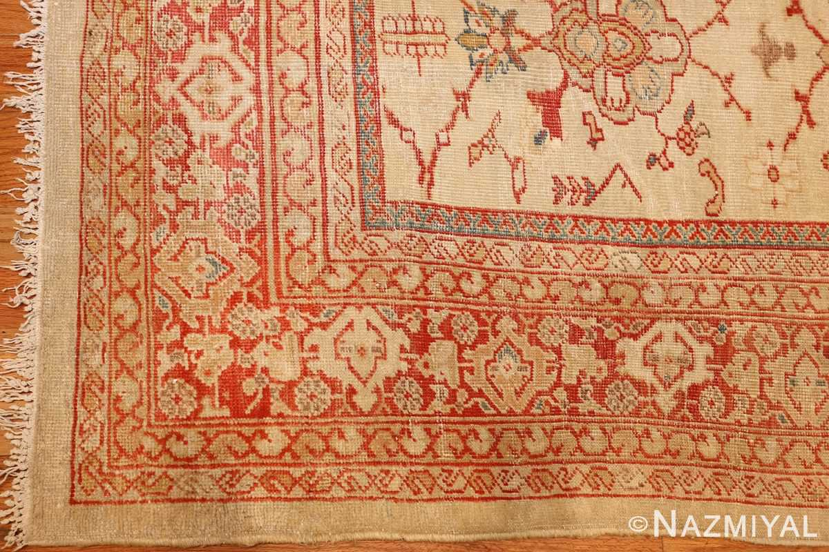 ivory background antique persian sultanabad rug 49163 design Nazmiyal
