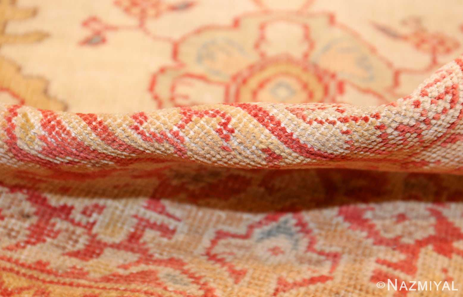 ivory background antique persian sultanabad rug 49163 pile Nazmiyal