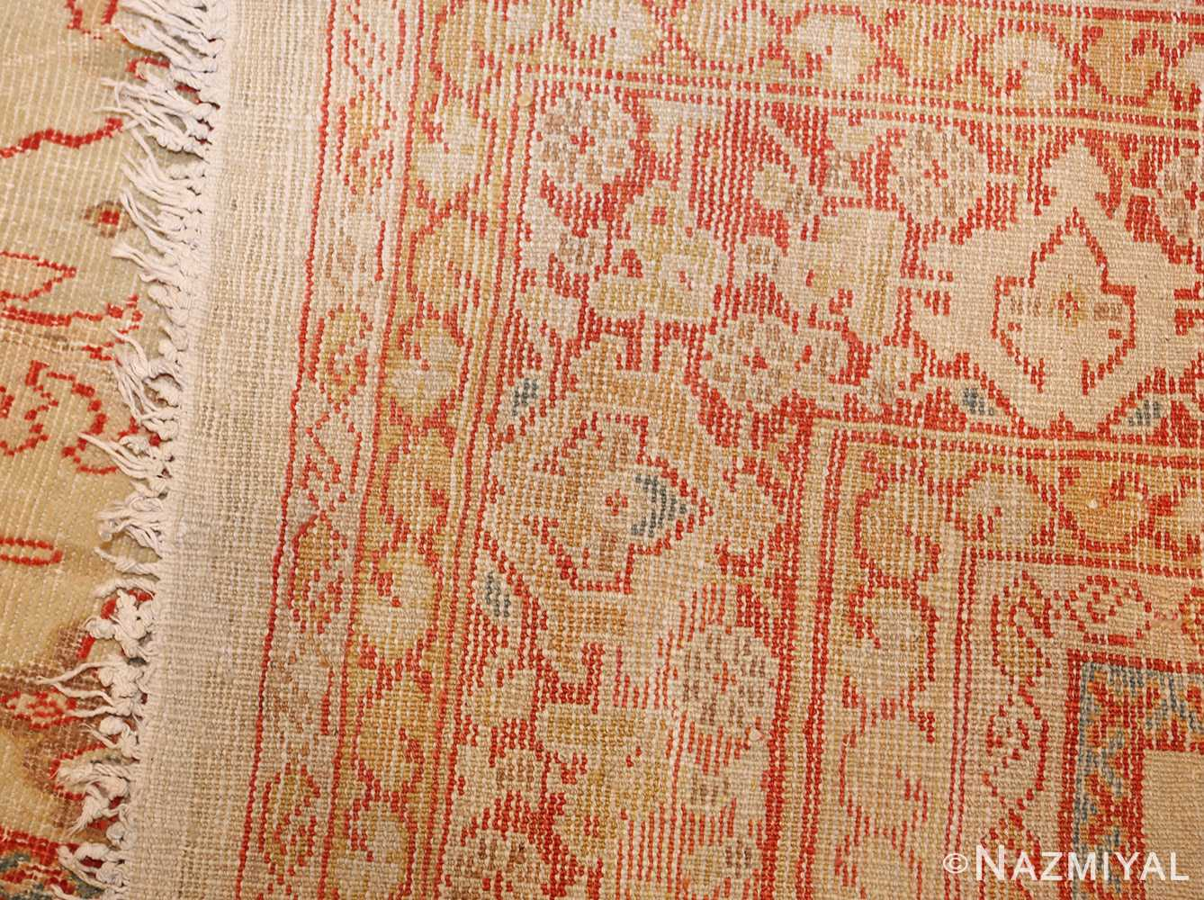 ivory background antique persian sultanabad rug 49163 weave Nazmiyal