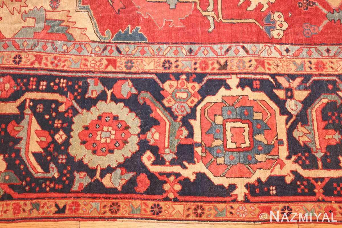 large antique persian heriz serapi rug 49162 border Nazmiyal